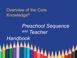 Core Knowledge Preschool Overview Powerpoint