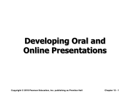 Developing Oral and Online Presentations
