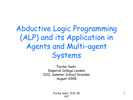 Abductive Logic Programming and its Application in …