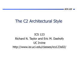 The C2 Architectural Style