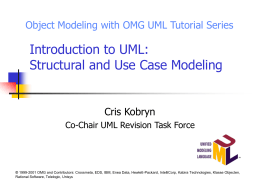 Introduction to UML - Vanderbilt University