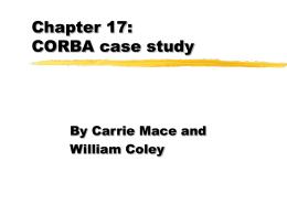 Chapter 17: CORBA case study