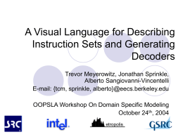 ISA_ML: A Visual Language for Modeling Instruction Sets