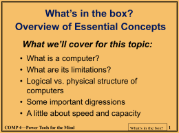 What's in the box? An overview