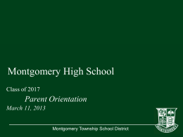 TYPE YOUR TITLE HERE - Montgomery Township School …