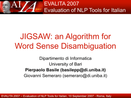 JIGSAW: an Algorithm for Word Sense Disambiguation