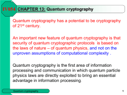 CHAPTER 15 - Quantum cryptography