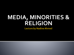 Lecture by Nadine Ahmed