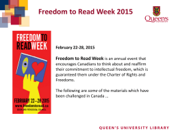 Freedom to Read Week 2015