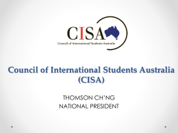 Council Of International Students Australia (CISA)