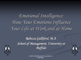 Emotional Intelligence: How Your Emotions Influence …
