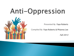 Anti-Oppression - Community Integration Network