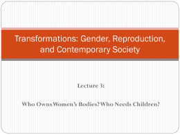 Transformations: Gender, Reproduction, and …