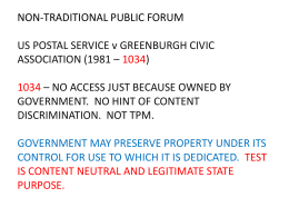 NON-TRADITIONAL PUBLIC FORUM US POSTAL SERVICE v