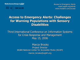 Challenges for Warning Populations with Sensory …