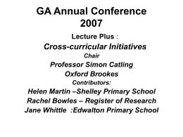 GA Annual Conference 2007