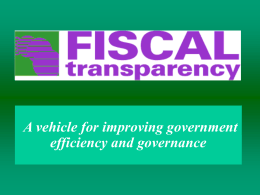 A vehicle for improving government efficiency and …