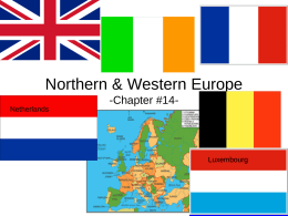 Northern & Western Europe -Chapter #14-