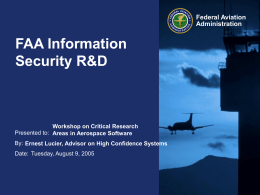 FAA Information Security R&D