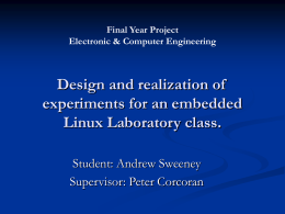 Design and realization of experiments for an embedded