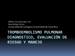 Tromboembolismo pulmonar conceptos actuales para dx …