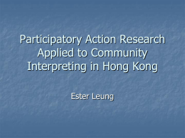 Community Interpreting in Hong Kong