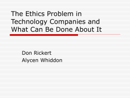 The Ethics Problem in Technology Companies and What …