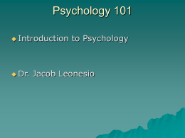 Cognitive Psychology - University of Washington