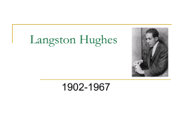 Langston Hughes - Mrs. A's Web Connection
