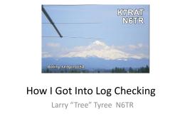 How I Got Into Log Checking