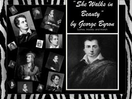 George Byron - Mrs. O's Brit Lit Webpage