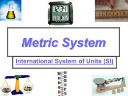 Metric System Unit