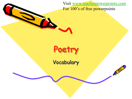 Poetry - Kentucky Academy of Technology Education