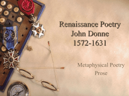 John Donne-Writing Prompt