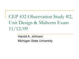 CEP 431 FEP & Unit Design 11/18/09 - DeafEd