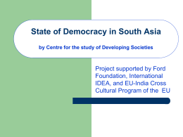 State of Democracy in South Asia
