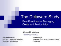 The Delaware Study - Council of Colleges of Arts and …