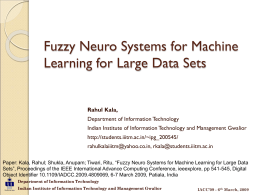 Fuzzy Neuro Systems for Machine Learning for Large …