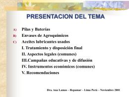 PRESENTACION DEL TEMA
