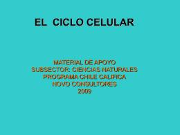 """EL CICLO CELULAR"""""""