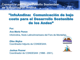 'InfoAndina: Promoting low-cost communications for