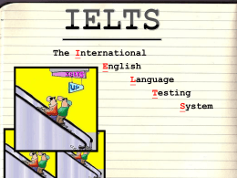 IELTS - 卓越大學英文網 College English Web