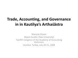 Appraising Accounting and Business Concepts in Kautilya's