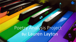Poetry Analysis Project