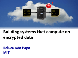 Protecting confidentiality by running systems on encrypted