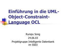 Object Constraint Language OCL