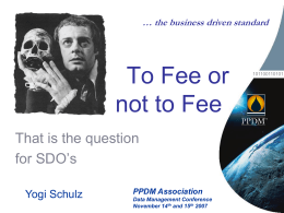 To Fee or not to Fee - Corvelle Consulting