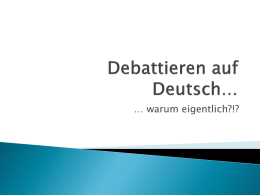 Debattieren auf Deutsch…