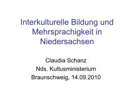 Interkulturelle Bildung und Mehrsprachigkeit in …