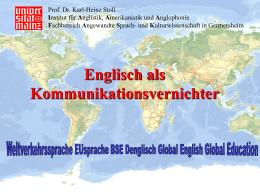 Englisch als Kommunikationsvernichter